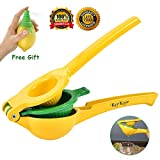 Lemon Squeezer Lime Citrus Juicer Hand Juicer Press Dishwasher Safe Lime Handheld Juicer Manual Bar Tools Kitchen Gadgets (Free Gift Lemon Sprayer) Review