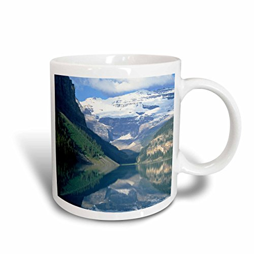 Lake Louise Outlet - 3dRose Lake Louise, Banff National Park, Alberta, Canada - Mark Gibson Ceramic Mug, 15-Oz