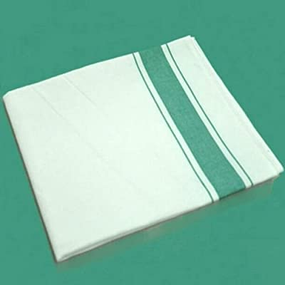 dolly2u Hot Wine Glass Cleaning Cloth Bar Hotel Cookware Cleaner Soft Cotton Hand Towel#Green stripes