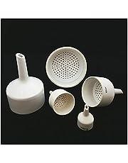 Qbinbin Store 1pcs 40mm 60mm 80mm 100mm 120mm 150mm Ceramic Buchner Funnel Laboratory Filter Funnel Pumping Filter Bottle Matching Tools (Capacity : 150mm)