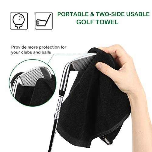 Sarissa Golf Brush & Groove Cleaner, Golf Club Brush & Towel - Golf Club  Cleaner Brush Dual-Bristle Cleaning Tool with 2 FT Retractable Zip-line