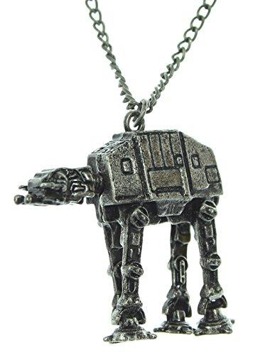 [Star Wars AT-AT Walker Gunmetal Necklace] (Star Wars At At Walker)