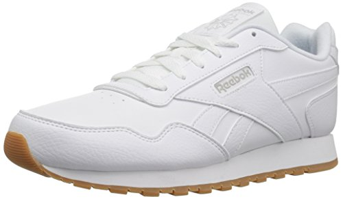Reebok Womens Classic Harman Run Sneaker, white/steel/gum, 8 M US ()