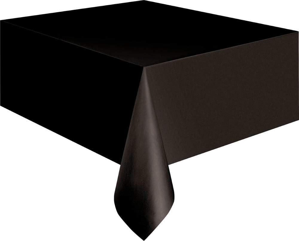 Mantel de Plástico - 2,74 m x 1,37 m - Negro