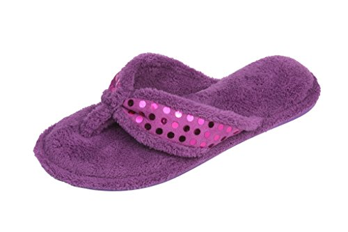 BEVERLY Womans Studded Flipflop Slippers product image