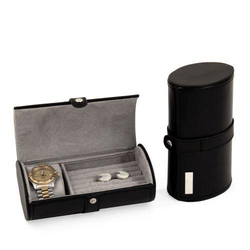 Leather Travel Jewelry Storage, Black from Bey-Berk
