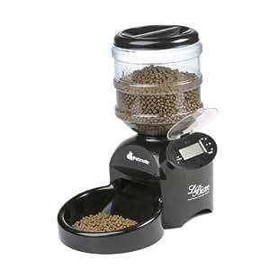 Petmate LeBistro Portion-Control Automatic Pet Feeder, Black, 4.2 Pounds