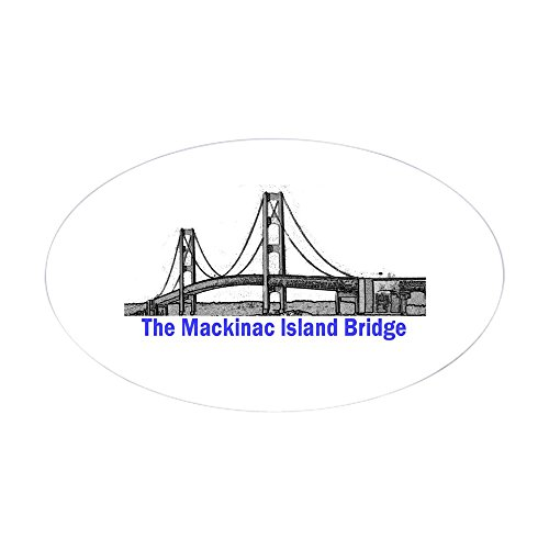 CafePress - The Mackinac Bridge Oval Sticker - Oval Bumper Sticker, Euro Oval Car Decal