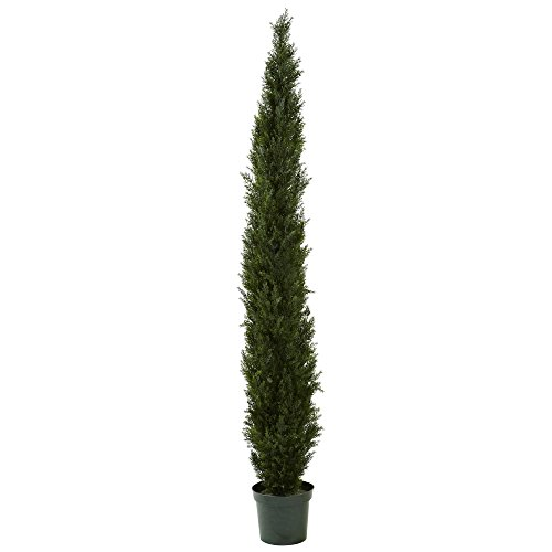 Nearly Natural 5430 8-Feet Cedar Pine Tree with 4249 Tips in 1-Inch Pot, Mini, Green