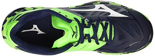 Mizuno Wave Lightning Z2, Scarpe da Pallavolo Uomo Blu (Dressblues/White/Greengecko)