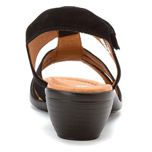 Ara Damessandalen Sandalen Zwarte Nubuk