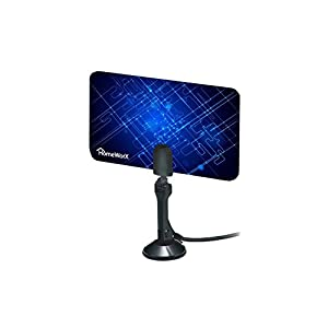 HomeWorx Flat HD Digital Indoor TV Antenna + ViewTV HDMI Cable Bundle - 25 Miles Range