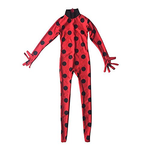 Ladybug Girls Costume COSPLAY Jumpsuit for Halloween birthday party set 5pcs/bag
