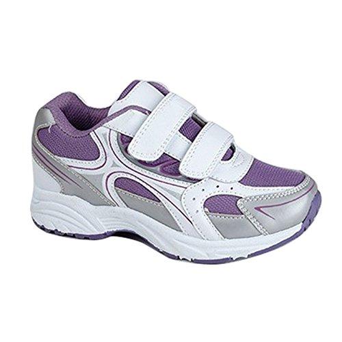 Dek - Zapatillas de cierre adhesivo modelo Zig nad Zag Unisex Blanco/Violeta