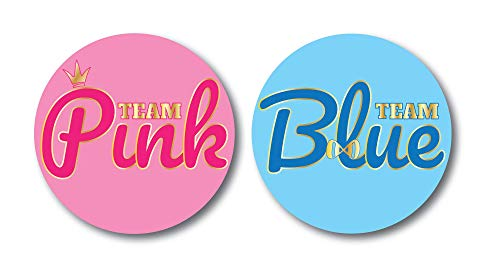 Gender Reveal Stickers | Team Blue and Team Pink | Baby Shower Stickers For Gender Reveal Party 4