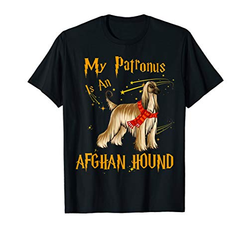My Patronus Is An Afghan Hound T Shirt for Dog Lovers ()