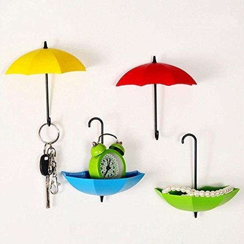 Wall Mounted Bathroom Wash Cloth (VEBE Colorful Umbrella Key Holder, Key Hanger,Wall Key Rack,Wall Key Holder,Key Organizer For Keys, Jewelry And Other Small Items (6PCS))
