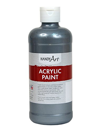 Handy Art Student Acrylic Paint 16 ounce, Metallic Silver ()
