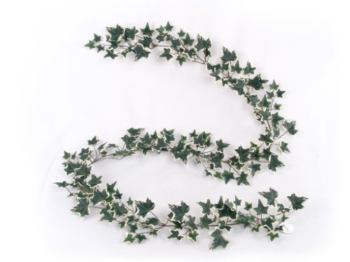 Larksilk 6' Gold Child Ivy Artificial Ivy Vine - Faux Ivy Garland with 185 Fake Ivy Leaves - Realistic English Ivy Artificial Greenery Garland