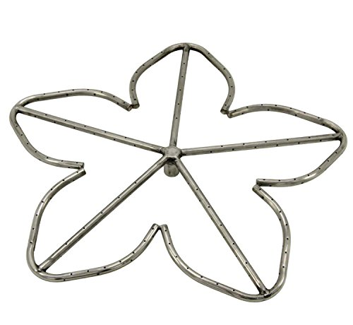 Hearth Products Controls Penta Stainless Steel Fire Pit Burner, 24-Inch, Natural Gas