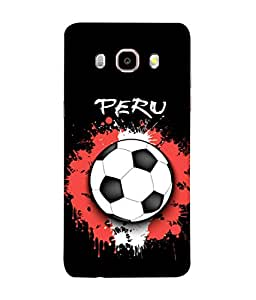 ColorKing Football Peru 03 Black shell case cover for Samsung J5 2016