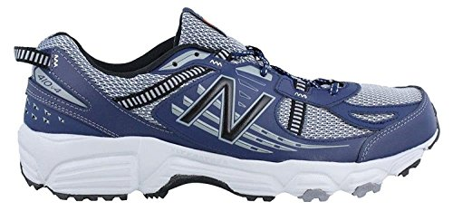 New Balance Mens T410v4 Grey/Navy Athletic Shoe, Gris/Azul marino, 41.5 D(M) EU/7.5 D(M) UK