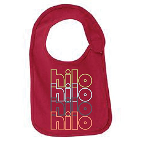 Hilo Hawaii Retro Funny Infant Jersey Bib Sangria One Size