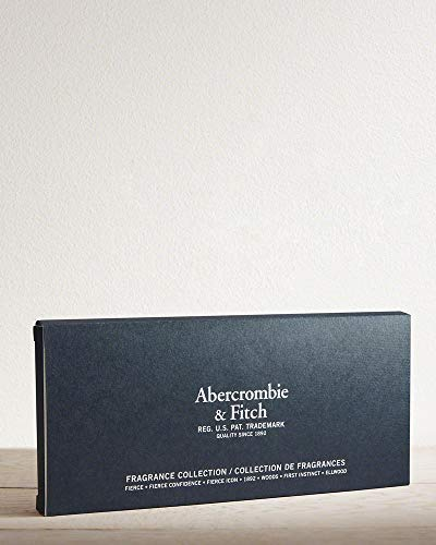 Abercrombie & Fitch Men's 7 x .09 FL. Oz./2.7mL Fragrance Collection Fierce, Fierce Confidence, Fierce Icon, 1892, Woods, First Instinct, Ellwood (Woods Abercrombie And Fitch)