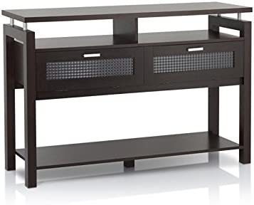 Furniture of America Tayler Contemporary Wood Storage Console Table in Espresso