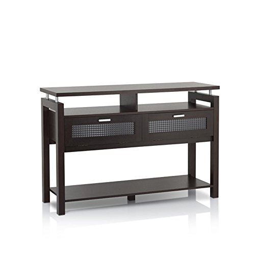 Furniture of America Tayler Storage Console Table in Espresso