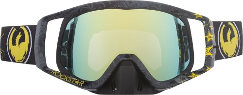 Dragon Alliance Rockstar Adult Vendetta Dirt Bike Motorcycle Goggles Eyewear - Black/Gold/Gold Ionized / One Size Fits All (Dragon Vendetta Goggles)