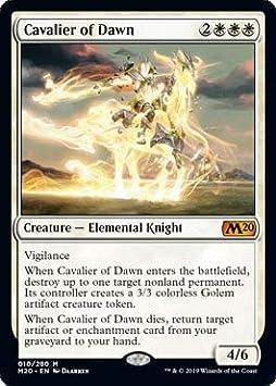 Core Set 2020 Cavalier of Dawn Magic the Gathering