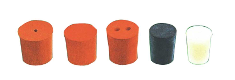 Bouchon Rb029/1H Naturel Rouge Bouchon en caoutchouc, 1trou, NO 29, 32mm de longueur, 29mm/33mm de diamètre (lot de 10)
