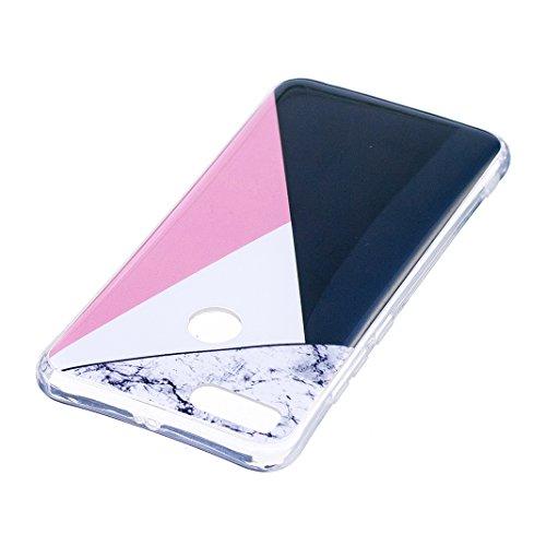 Funda de mármol para Xiaomi Mi 5X / Xiaomi Mi A1, Carcasa Suave TPU Oududianzi Funda de Silicona Flexible Soft Silicone Case Casco Protectora Anti Choque - Golden Marble Mármol tricolor
