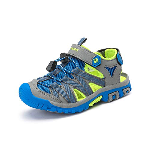 - DREAM PAIRS Boys Girls 181108K Grey Green Blue Closed-Toe Outdoor Summer Sandals Size 11 M US Little Kid