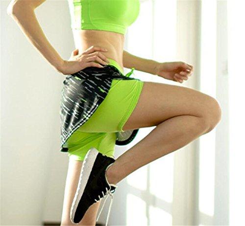 Fitness 2 Pantaloncini in Estate Donna Pantaloncini Green Floreale Sport 1 Shorts Running Stampa Dry Pantaloncini AILIENT Fast Abbigliamento Yoga Sport Esercizi 5fqPSxWxw
