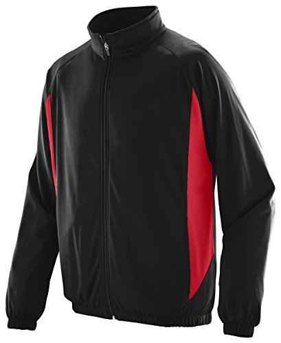 Augusta Sportswear BOYS' MEDALIST JACKET L Black/Red (Red Jacket Cheerleader)