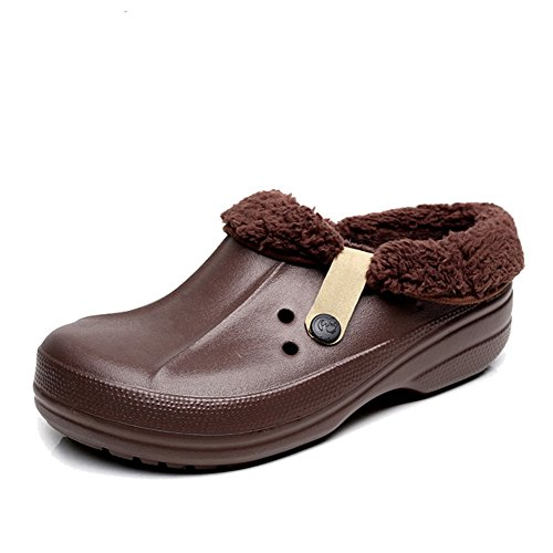 Unisex Warm Clogs and Mules Men Coffee NSXjO