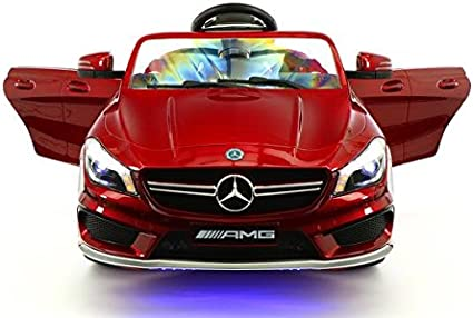 amazon com moderno kids mercedes cla45 children ride on car with r c parental remote 12v battery power led wheels lights 5 point seat belt mp3 music player baby tray table moderno kids mercedes cla45 children ride on car with r c parental remote 12v battery power led wheels lights 5 point seat belt mp3 music player