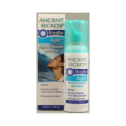 Ancient Secrets Seawater Nasal Spray 3.38 OZ