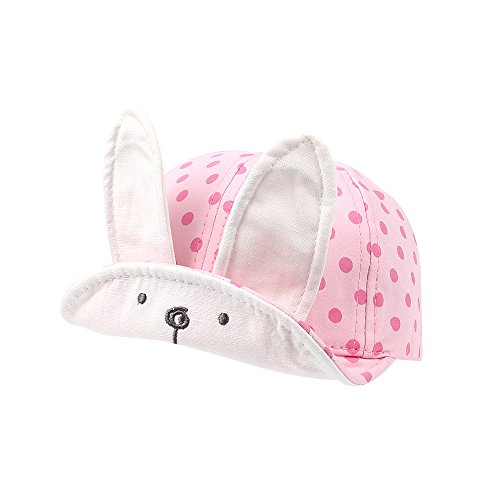Cutegogo Baby Baseball Cap Infant Toddler Boys Girls Adjustable skull Hat Lovely Spring Fall(Deep pink,1-3Y)