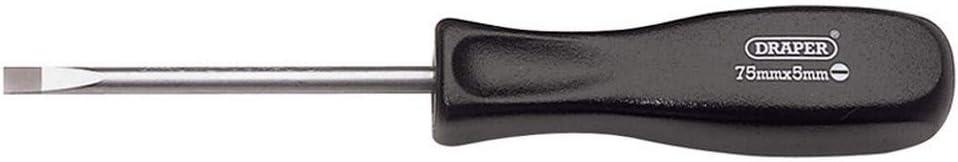 19527 5mm x 75mm DRAPER Plain Slot Mechanics Screwdriver