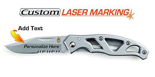 Gerber Mini Paraframe Frame Lock - Custom Laser Engraved Knife - Gerber Paraframe Mini Serrated Edge (22-48484)