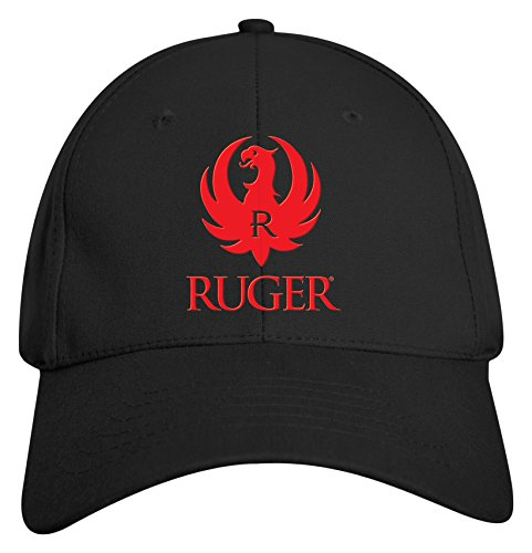 Ruger  3 D Logo Cap  Unisex Adult  One Size Fits Most  Black
