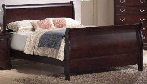 Philippe California King Sleigh Bed (Louis Philippe California King Sleigh Bed in Rich Cappuccino Finish by Coaster)