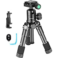 Neewer 20 inches Portable Compact Desktop Mini Tripod with 360 Degree Ball Head,Cellphone Holder,Bluetooth Remote,Bag for iPhone,Samsung,Huawei Smartphone,DSLR Camera,Load up to 11 pounds