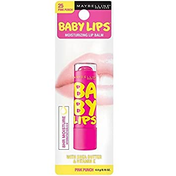 Maybelline Baby Lips Moisturizing Lip Balm SPF 20, Pink Punch 0.15 oz (Pack of 3) Sudden Change Green Tea Facial Mask 3.40 oz (Pack of 2)