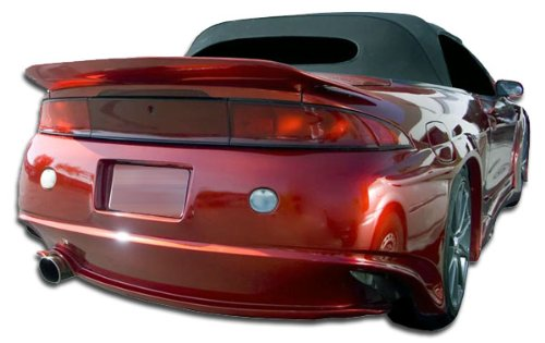 Duraflex Replacement for 1997-1999 Mitsubishi Eclipse Eagle Talon Millenium Wide Body Rear Bumper Cover - 1 Piece