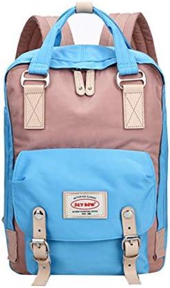 2つのびんのポケットが付いている女子校生の軽量のバックパックの大学/旅行偶然の学校のバックパック