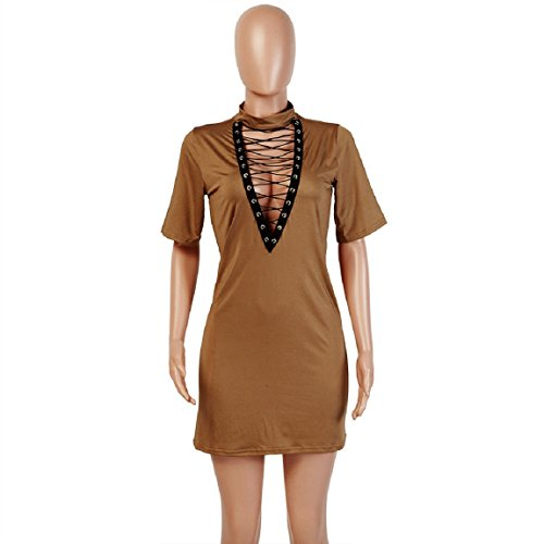 Malloom Mode Damen Verband Bodycon Kurzarm Abend Partei Mini Kleid ...